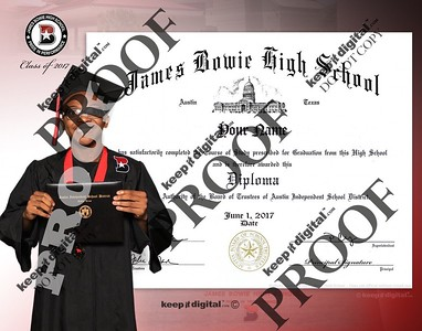 2017 Bowie Keedjit Diploma Proof Right