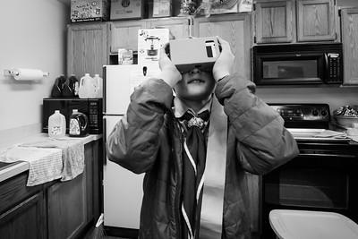 Ben with Google Cardboard VR