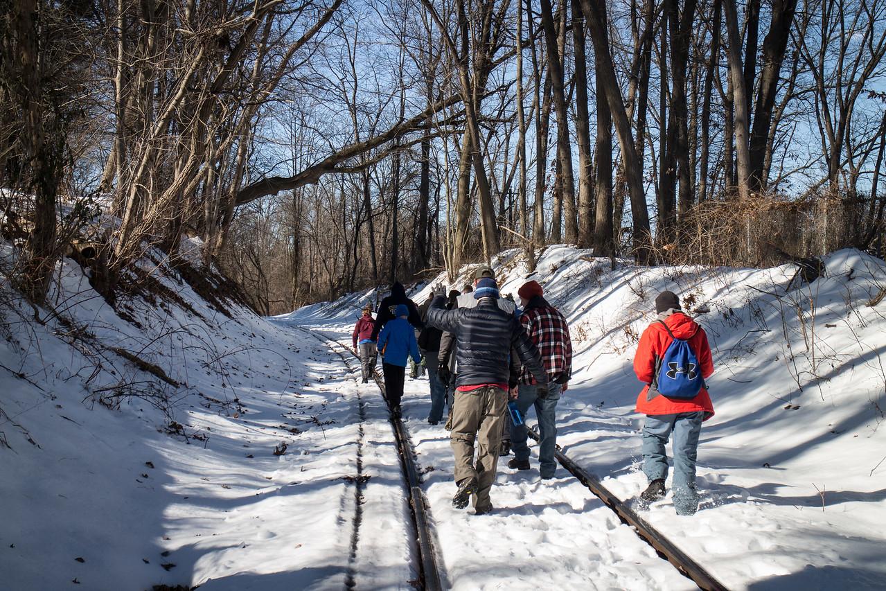 The 1-mile hike