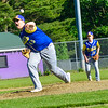 KRISTOPHER RADDER — BRATTLEBORO REFORMER<br /> Bennington's Dylan Babson pitches against Brattleboro during an American Legion baseball game at Tenney Field, in Brattleboro, on Wednesday, June 12, 2019.