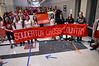 """Students get in position for second take of  """"Brave"""" video at Souderton Area High School.   Wednesday,  March12, 2014.   Photo by Geoff Patton"""