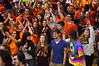 "Student and teachers gather in gym for finale of ""Brave"" video.    Wednesday,  March 12, 2014.  Photo by Geoff Patton"