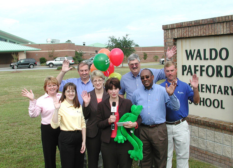 The Bright Ideas Prize Team filming at Waldo Pafford Elementary School.