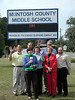 The Bright Ideas Prize Team filming at McIntosh County Middle School.