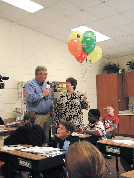 CEO Whit Hollowell interviews Mary Matthew about her grant.