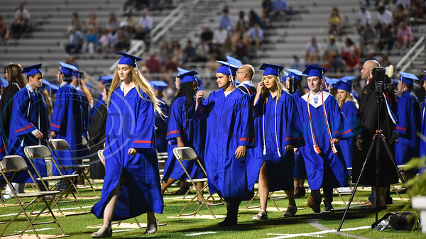 Bullard High School students take their seats at the school's graduation ceremony. The celebration took place on Thursday, June 4 at Panther Stadium.