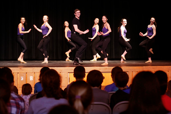 Burr and Burton Academy dance company students visit Maple Street school. 032317