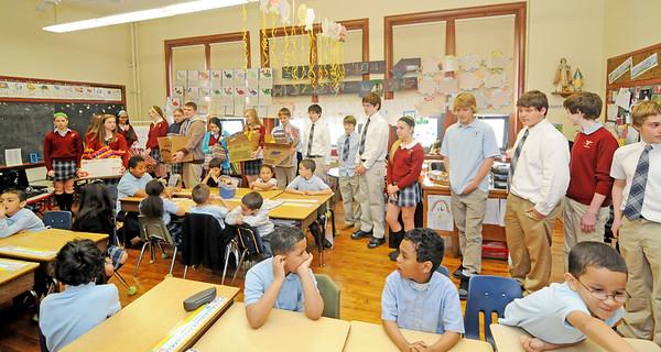 CAPE TRINITY CATHOLIC VISITS HOLY NAME SCHOOL IN CAMDEN NJ. 04/16/13