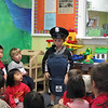 Ty's Mom came to show/teach about Police.  You got to wear her gear.