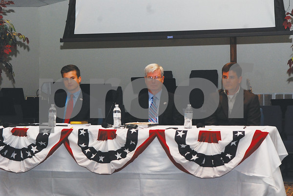From left to right, candidates House District 5 will be at the Grassroots America forum — Hayes, Davis and Hefner