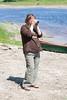 Waiting for canoeists to return to Moosone 2006 June 13th.