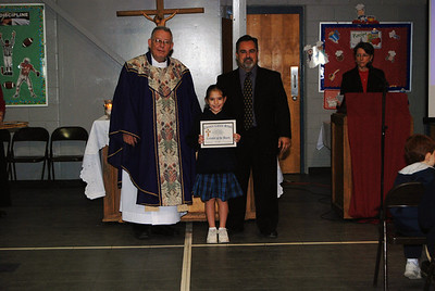 Brylie Guidry, Crusader of the month for 3rd grade.