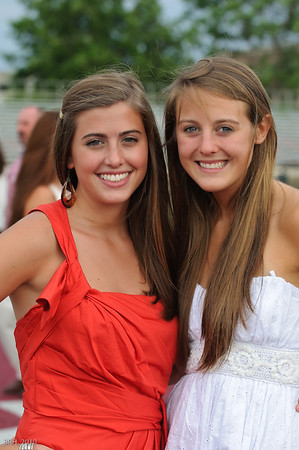 Carlie & Meg at TRS Graduation June 2010