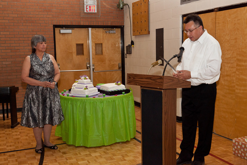Retirement dinner for Moosonee Public School principal Carol Birnie who started teaching at the school 33 years ago.
