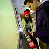 KRISTOPHER RADDER - BRATTLEBORO REFORMER<br /> Brattleboro Union High School math teacher Erin Hilow and Nick Campbell create a chain with numbers in Pi as they celebrate National Pi Day on Wednesday, March 15, 2017.