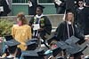 Sonnie marched in line for her diploma.