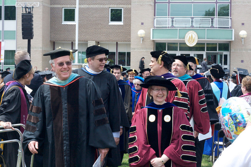 Rhode Island College's new President, Nancy Carriuolo, guided the commencement superbly.