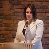 Senator Jennifer Flanagan speaks at hearing against the International Academy of Montachusett Charter School on Thursday evening. SENTINEL & ENTERPRISE / Ashley Green