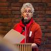 Sally Cragin speaks at a hearing against the International Academy of Montachusett Charter School on Thursday evening. SENTINEL & ENTERPRISE / Ashley Green