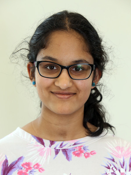 Combined Parker and McCarthy Middle Schools Knowledge Bowl team. Divya Sambasivan, 14, 8th grade. (SUN/Julia Malakie)