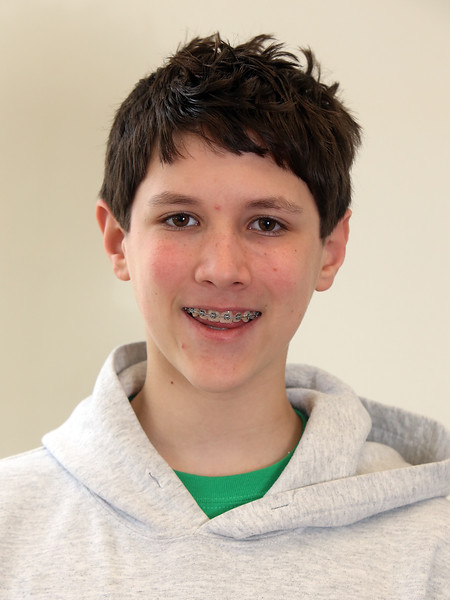 Combined Parker and McCarthy Middle Schools Knowledge Bowl team. Jonathan Domow, 14, 8th grade. (SUN/Julia Malakie)