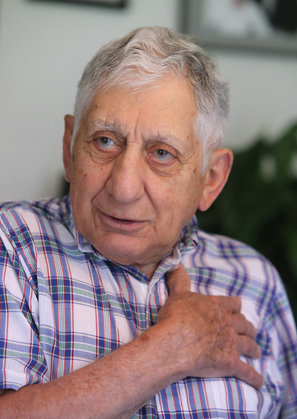 Chelmsford High School Alumni Association executive director George Simonian. (SUN/Julia Malakie)