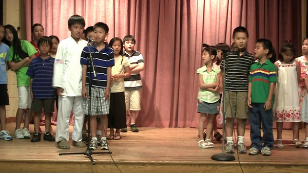 Chinese School of Delaware 2010 Commencement, 6/6/2010 Performance by Grades 1A & 4A  數來寶:台灣好;唱歌:高山青  編詞:陳芳平老師 指導老師:陳芳平老師,廖祥芬老師