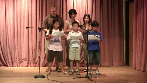 Chinese School of Delaware 2010 Commencement, 6/6/2010 Performance by Grades 3B  唱歌:茉莉花,送你一把泥土  指導老師:李春蘭老師