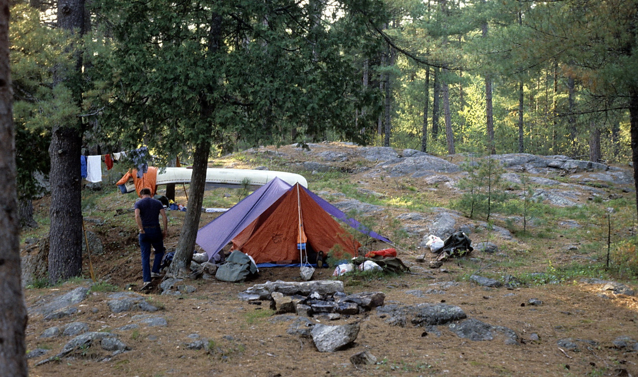 I remember this campsite as the first night of a trip (French River)?  It rained that night (no surprise).
