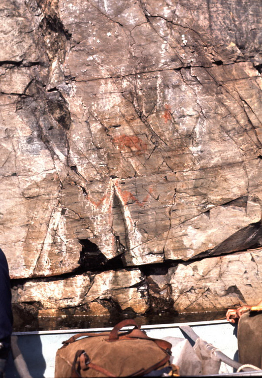 Indian pictographs in Temagami.