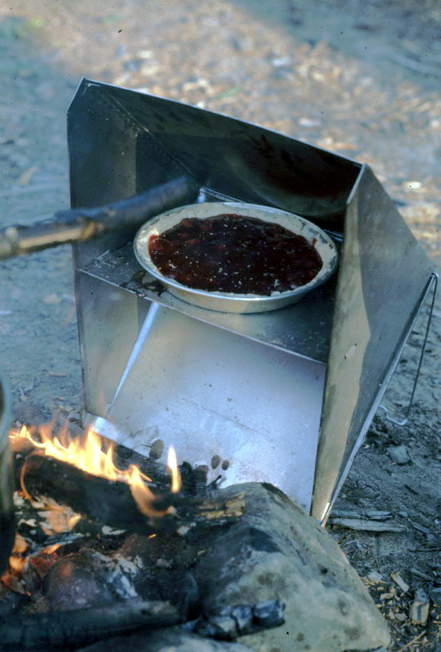 I'm pretty sure that this is in Temagami on McConnall Bay (sp?).  We made good use of those reflector ovens.