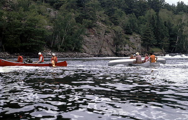 Canoe over Canoe rescue.  Normal and required training.