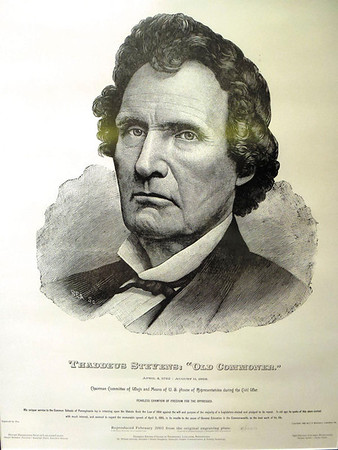 Debbie Wachter/NEWS<br /> This ink drawing came from the historical society of Lancaster County and was purchased for Thaddeus Stevens School by Sam Biasucci, whose wife, Joan, was a teacher at the school for many years.