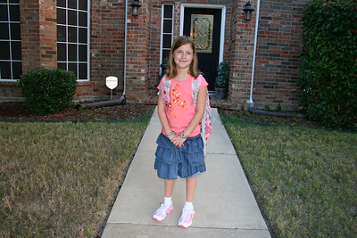 Courtney's First Day of Second Grade - August 2010