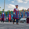 The 118 seniors of the Crescent City High School class of 2019 parade past their closest family and friends during commencement on Thursday night. Fran Ruchalski/Palatka Daily News