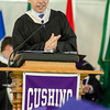 Headmaster Christopher Torino addresses the graduates the 141st commencement ceremony at Cushing Academy in Ashburnham on Saturday morning. SENTINEL & ENTERPRISE / Ashley Green