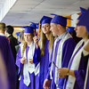 Graduates wait for the start of the141st commencement ceremony at Cushing Academy in Ashburnham on Saturday morning. SENTINEL & ENTERPRISE / Ashley Green