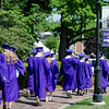 Graduates enter the141st commencement ceremony at Cushing Academy in Ashburnham on Saturday morning. SENTINEL & ENTERPRISE / Ashley Green
