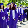 Graduates enter the 141st commencement ceremony at Cushing Academy in Ashburnham on Saturday morning. SENTINEL & ENTERPRISE / Ashley Green