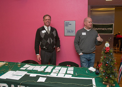 James, DAASV Treasurer, and David greeted arrivals and headed them inside for some food and company.