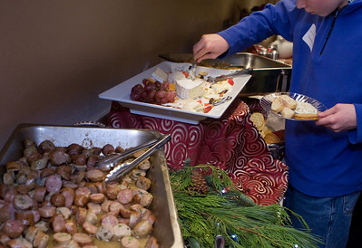 There was a variety of offerings, including shrimp and sausage.