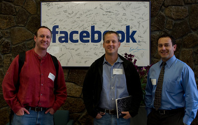 Ben, Tom, and Scott in the Facebook lobby.