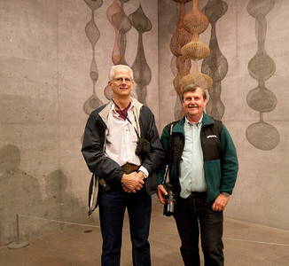 After the tour, George Hamma P'09 and his guest Mark Remelman enjoy the display in the tower.