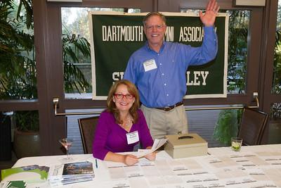 James von Rittmann '95, DAASV President, and Kirsten Pickford greeted attendees.