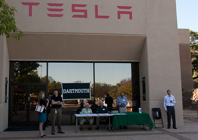 The DAASV check-in table at Tesla