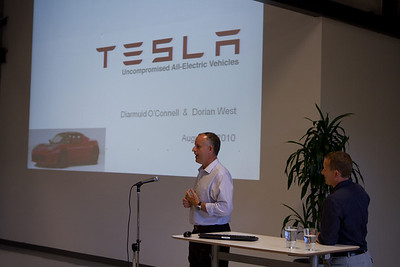 Diarmuid O'Connell '86 (Tesla's Vice-President of Business Development) introduces Tesla key technologies.