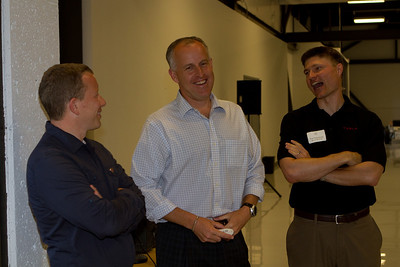 The Tesla speakers:  Dorian West (Tesla's Director of Battery Engineering), Diarmuid O'Connell '86 (Tesla's Vice-President of Business Development) and Peter Hasenkamp '98 E'99 E'00 (Supply Chain Management).