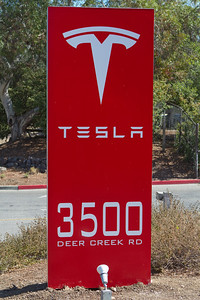The Dartmouth Alumni Association of Silicon Valley hosts the Dartmouth's Big Green Bus and crew for a informational sesson at Tesla's headquarters in Palo Alto.