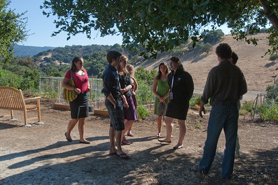 The Big Green Bus crew was shown the picnic grounds on top of the hill, where there was an opportunity to ask questions and find out about living and working in the Silicon Valley.