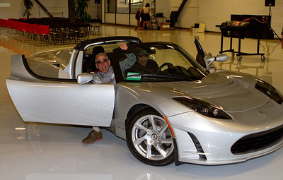 Alan Gaynor '67 managed to get a ride in the Roadster before it was brought into the meeting space.
